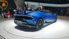Lamborghini Huracàn Performante Spyder, vista 3/4 posteriore