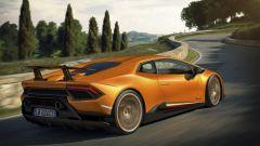 Lamborghini Huracan Performante: vista 3/4 posteriore