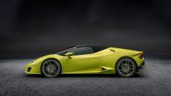 Lamborghini Huracán Spyder: il profilo con la capote chiusa