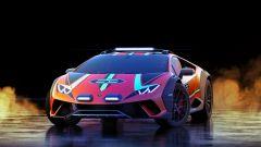 Lamborghini Huracan Sterrato concept: vista del frontale