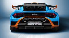 Lamborghini Huracan STO: visuale posteriore