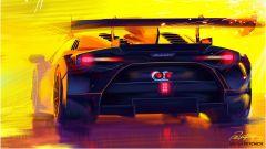 Lamborghini Huracán Super Trofeo EVO2, bozzetto del posteriore