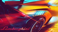 Lamborghini Huracán Super Trofeo EVO2, bozzetto della fiancata