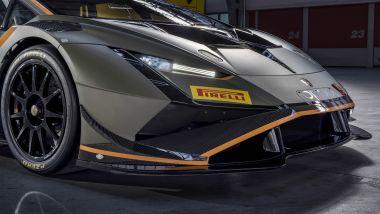 Lamborghini Huracán Super Trofeo EVO2, dettaglio dello splitter anteriore