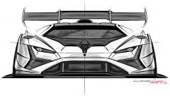 Lamborghini Huracán Super Trofeo EVO2, schizzo del frontale