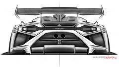 Lamborghini Huracán Super Trofeo EVO2, schizzo del posteriore