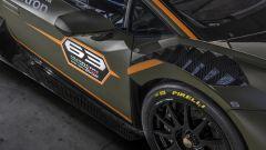 Lamborghini Huracán Super Trofeo EVO2, sfoghi aerodinamici sui passaruota
