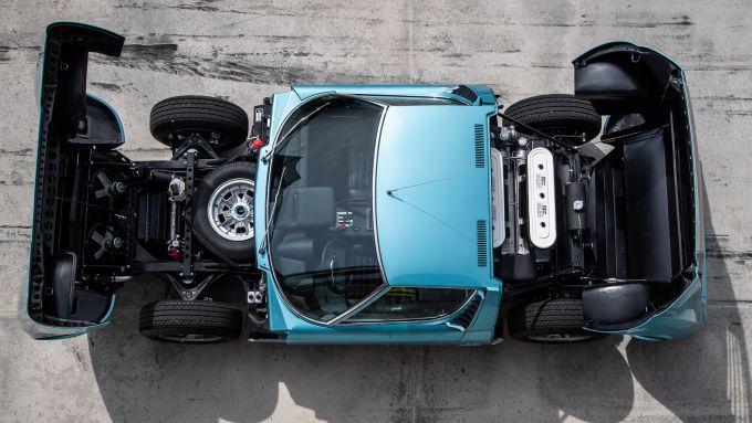 Lamborghini Miura S del cantante Little Tony, la meccanica in bella vista