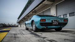 Lamborghini Miura S del cantante Little Tony, vista 3/4 posteriore
