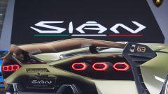 Lamborghini Sian a Francoforte 2019. Dettaglio posteriore