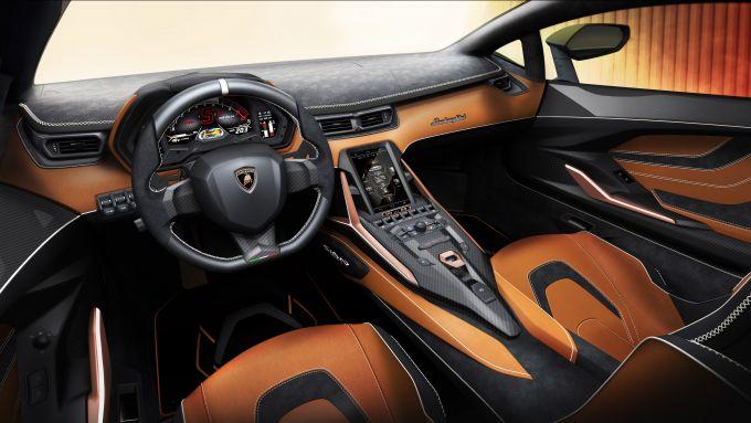 Lamborghini Sian, gli interni