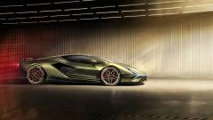 Lamborghini Sian, il fianco destro