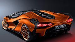 Lamborghini Sian Roadster: dettaglio posteriore