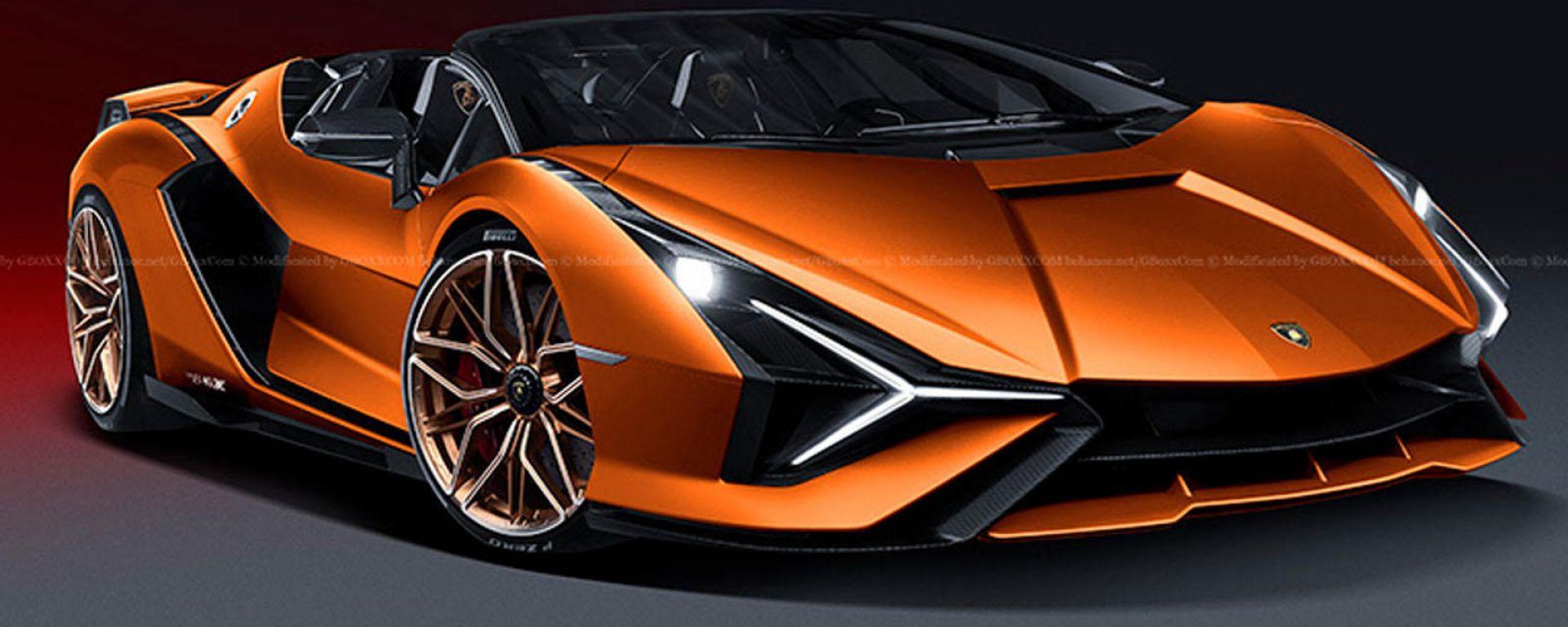 Lamborghini Sian Roadster: il frontale