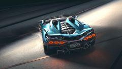 Lamborghini Sian Roadster: il posteriore col V12 da 819 CV