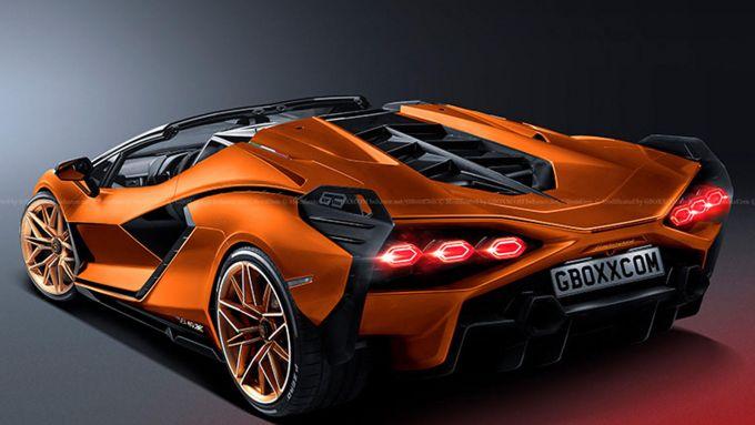 Lamborghini Sian Roadster: il posteriore