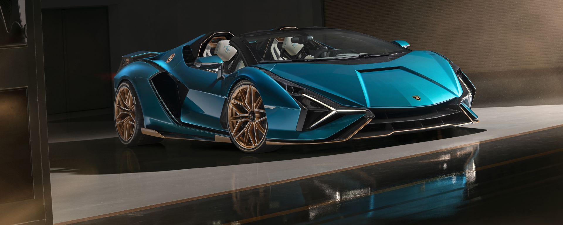 Lamborghini Sian Roadster: l'ibrida ora è aperta