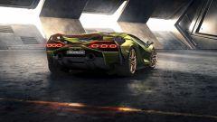 Lamborghini Sian vista dal retro