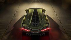 Lamborghini Sian, vista dall'alto, dal retro