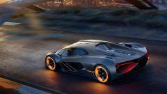 Lamborghini Terzo Millennio, vista 3/4 posteriore