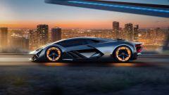 Lamborghini Terzo Millennio, vista laterale