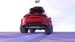Lamborghini Urus delle nevi nel rendering di Abimelec Design, il retro