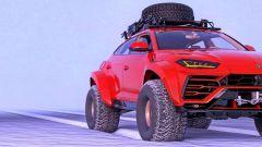 Lamborghini Urus delle nevi nel rendering di Abimelec Design, via che si va