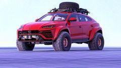 Lamborghini Urus nel rendering di Abimelec Design: pronta per la montagna più impervia