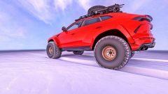 Lamborghini Urus nel rendering di Abimelec Design, ruote a prova di bufera