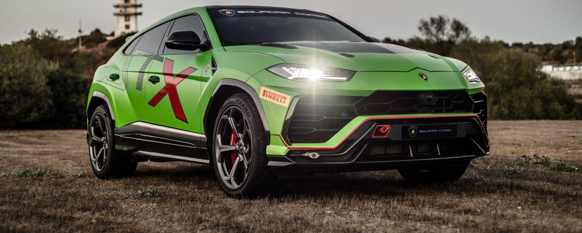 Lamborghini Urus ST-X: il 3/4 anteriore