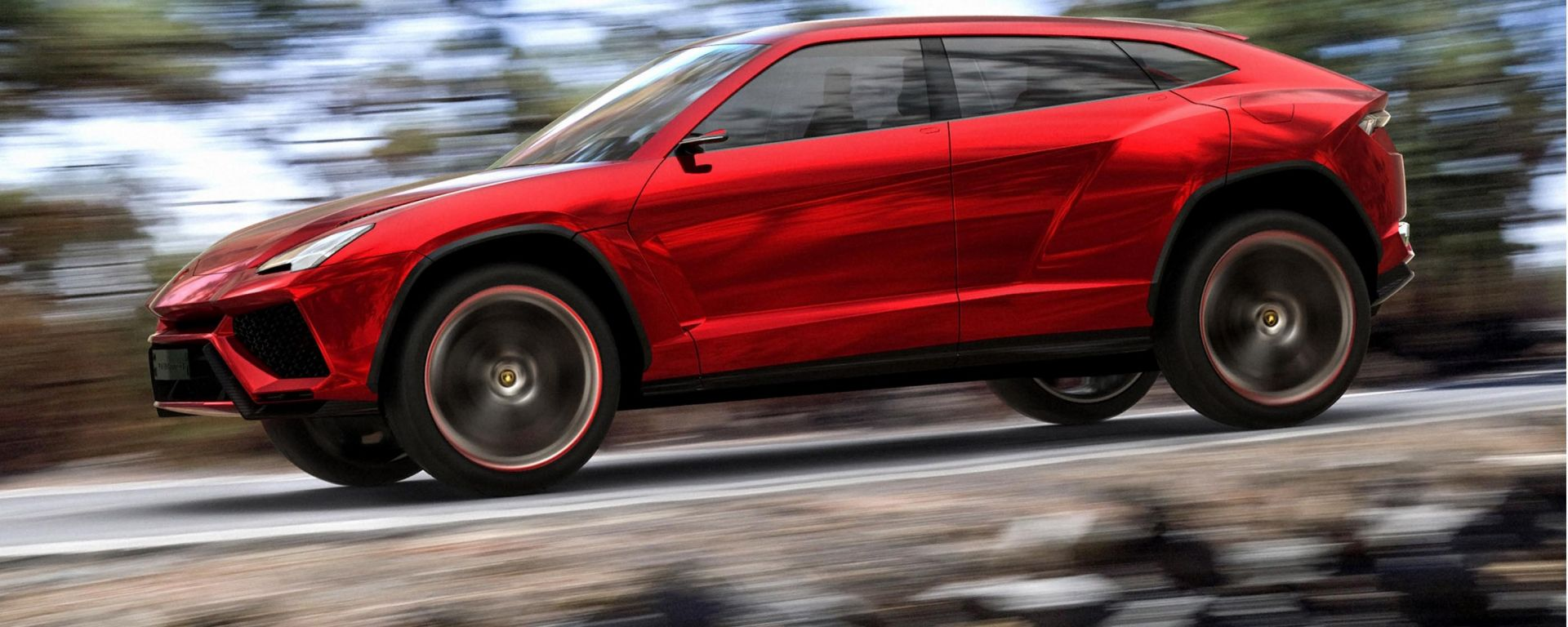 Lamborghini Urus: un rendering del nuovo SUV