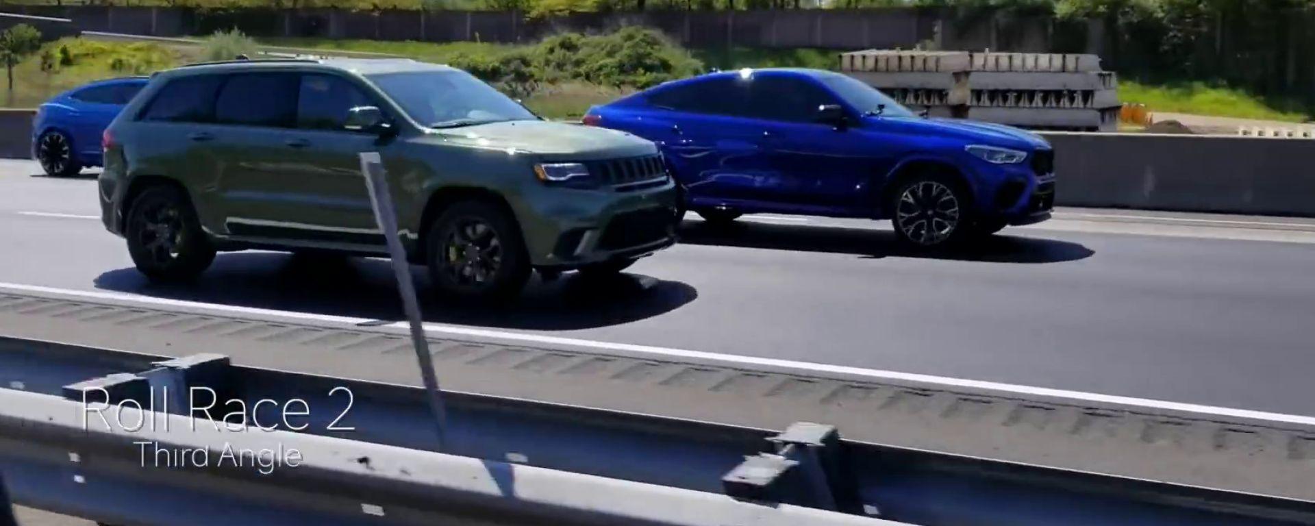 Lamborghini Urus vs Bmw X6 vs Jeep GC Trackhawk