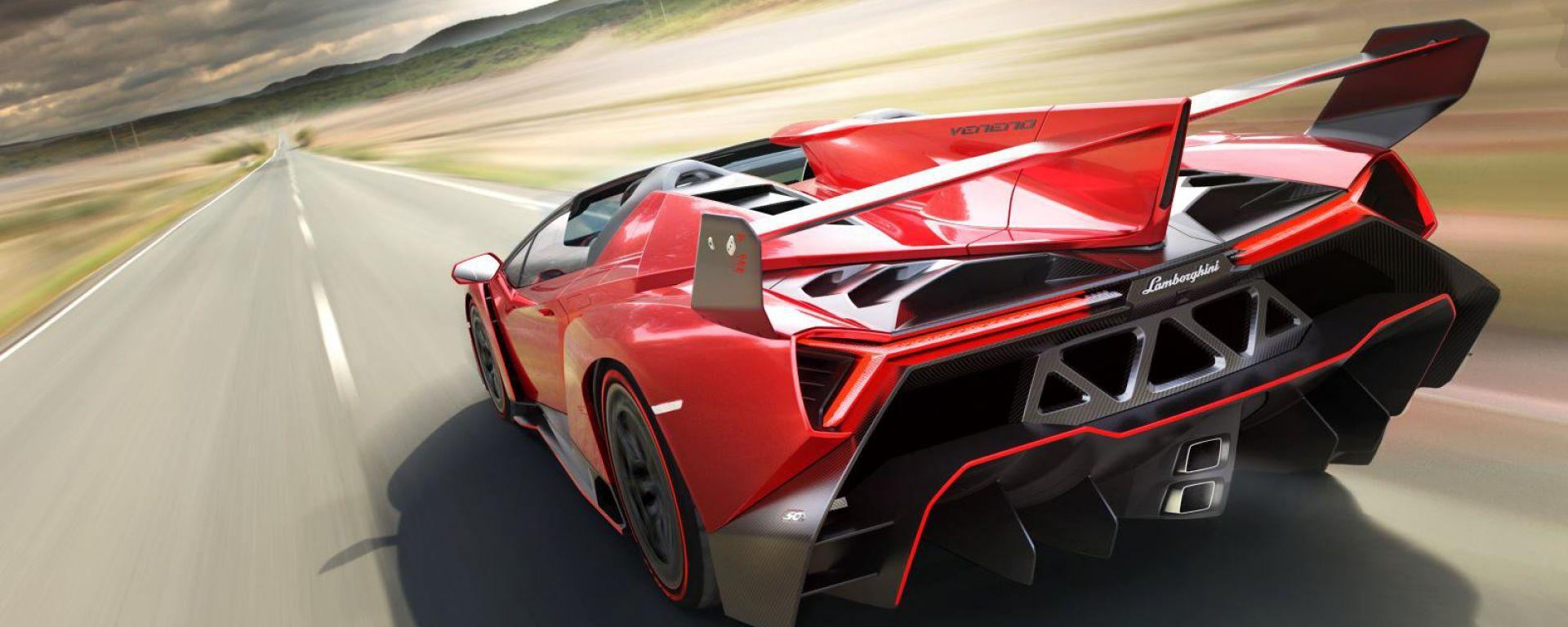 Lamborghini Veneno Roadster, nuove foto