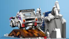 Lancia Delta S4: il set la mostra impegnata nel Rally di Monte-Carlo