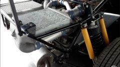 Lancia Delta S4 Stradale: dettaglio della sospensione posteriore