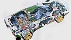 Lancia Stratos Rally originale: lo schema meccanico