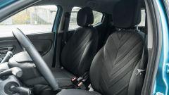 Lancia Ypsilon Ecochic 1.0 Hybrid Maryne, i sedili anteriori