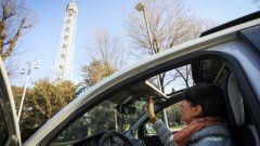 Lancia Ypsilon Mya e la Torre Branca di Milano