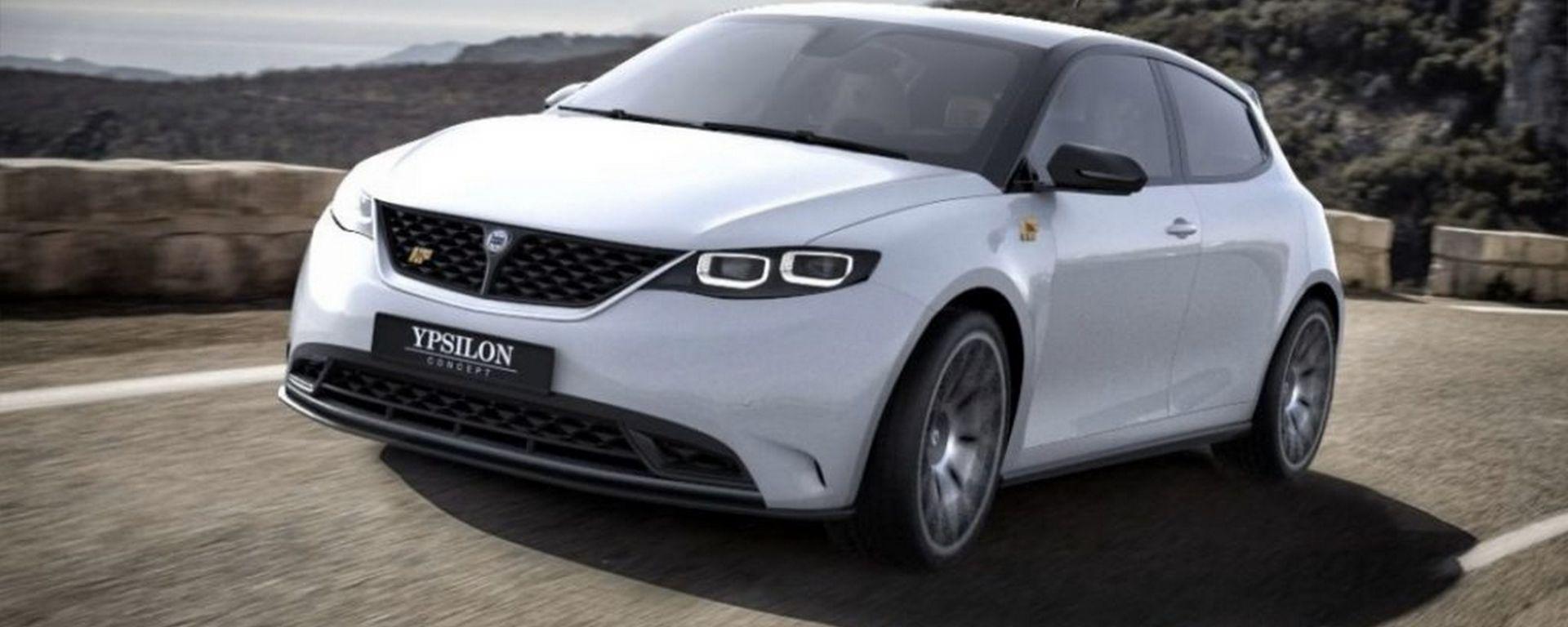 Lancia Ypsilon nuova generazione: il render di Andrea Bonamore (I Love Lancia)