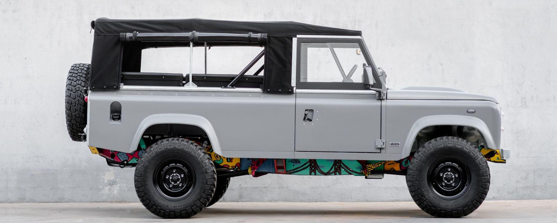 Land Rover Defender Art 110: opera d'arte sotto copertura