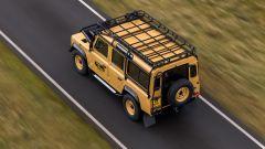 Land Rover Classic: dall'alto si vede il portapacchi in acciaio