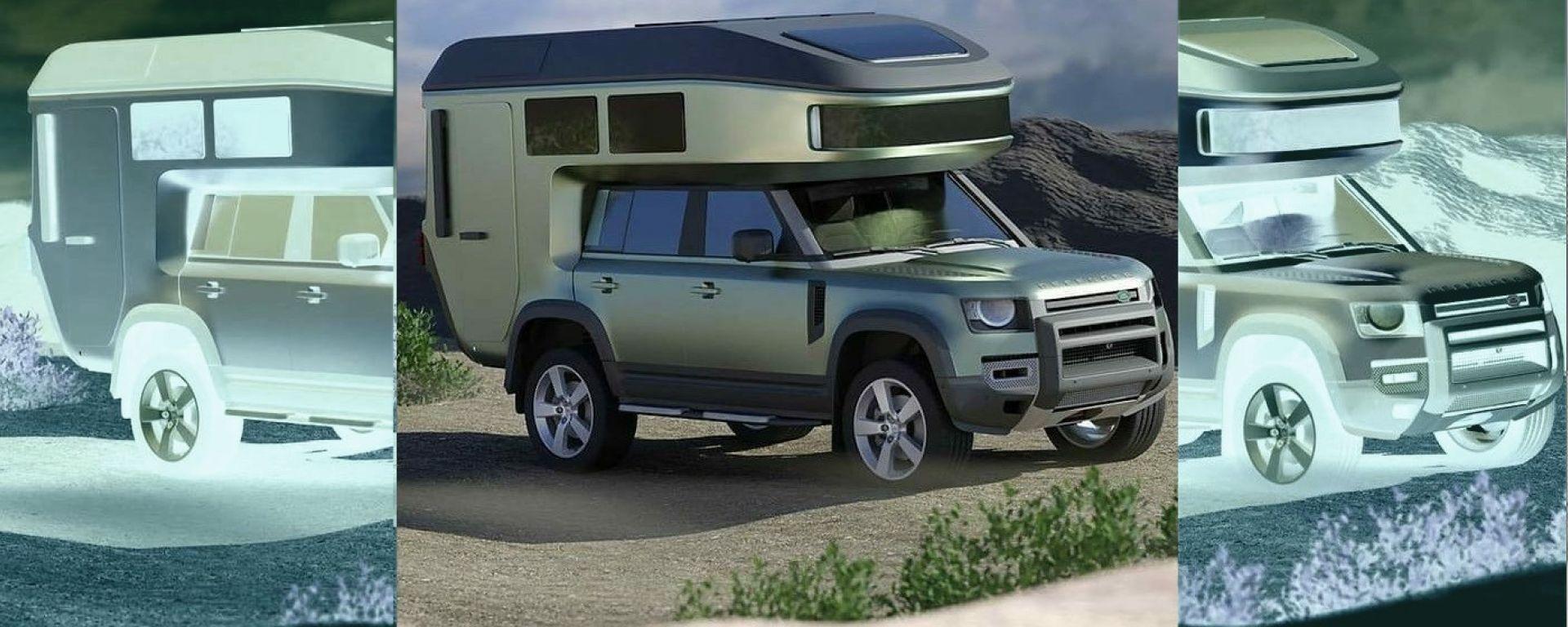 Land Rover Defender 110 2020 con modulo camper GehoCab