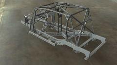 Land Rover Defender 110 by Bowler: il telaio a longheroni con la gabbia di rinforzo