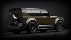 Land Rover Defender 80: immancabile la ruota di scorta sul portellone
