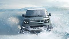 Land Rover Defender on ice