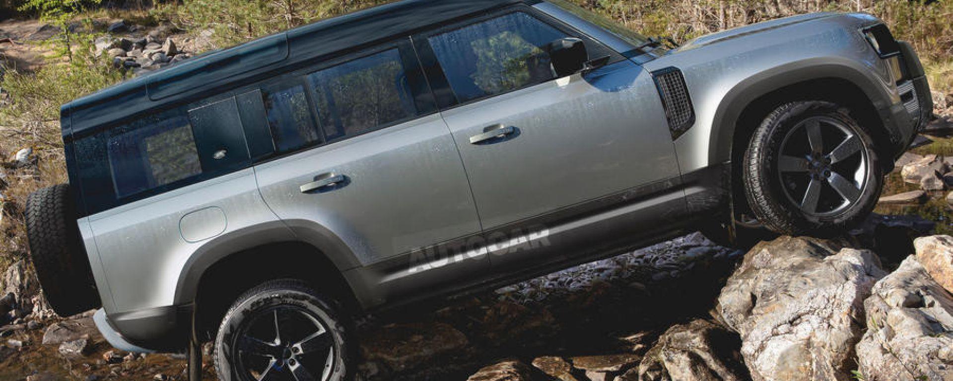 Land Rover Defender: per la 130 stesso passo della 110 ma sbalzo posteriore allungato