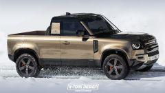 Land Rover Defender Pickup, il render di X-Tomi Design