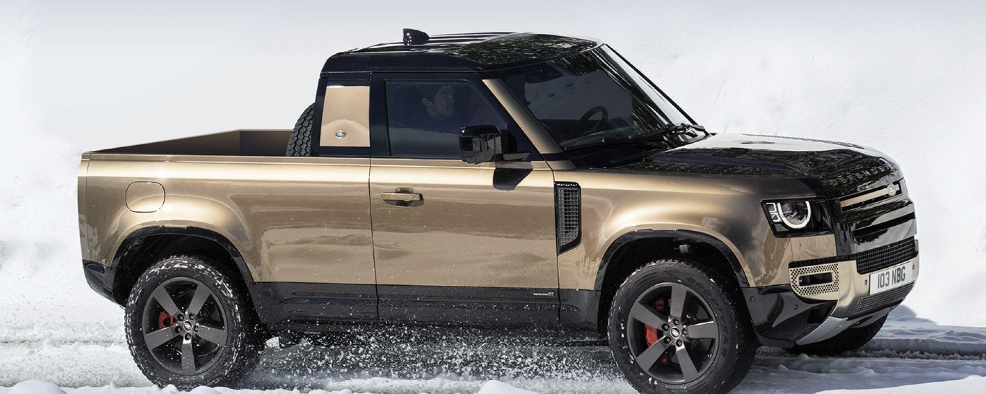 Land Rover Defender Pickup: il rendering di X-Tomi Design