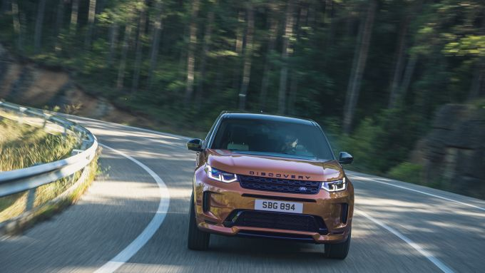 Land Rover Discovery 2020: il frontale