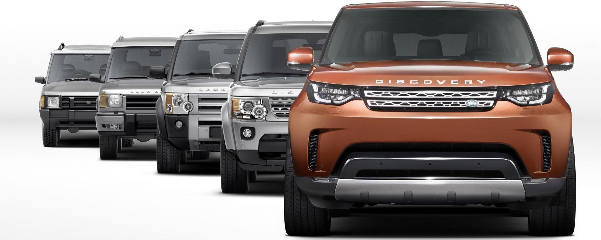 Land Rover Discovery: le 5 generazioni a confronto
